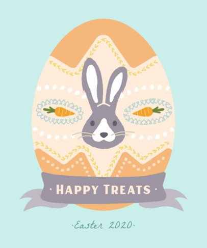 T-Shirt Design Maker Featuring a Decorated Easter Egg Graphic 2223h