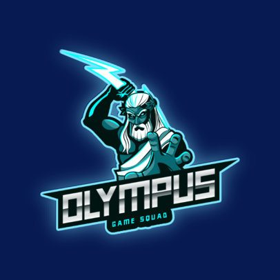 Mythology-Themed Logo Generator for Gamers Featuring a Zeus Illustration 2920a
