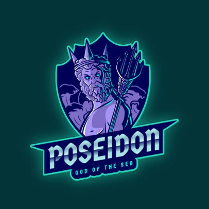 Logo Maker Featuring Poseidon with His Trident 2920j