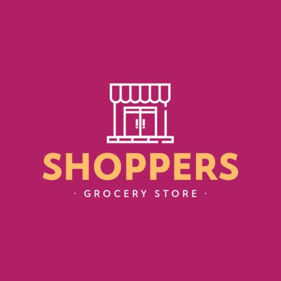 Simple Logo Maker for Grocery Stores 832-el1