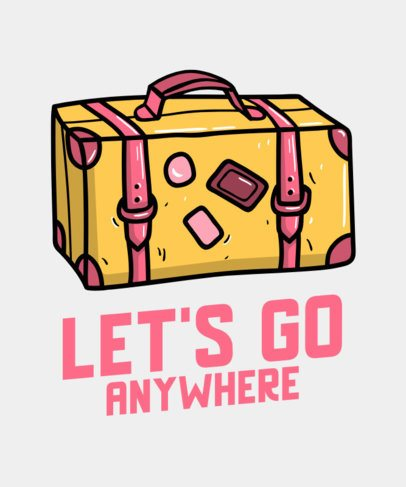 Cool VSCO-Styled T-Shirt Design Generator with a Suitcase Icon and a Phrase 739c-el1