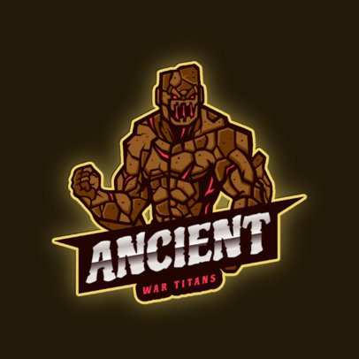 Gaming Logo Maker Featuring a Stone Titan Character 2920g