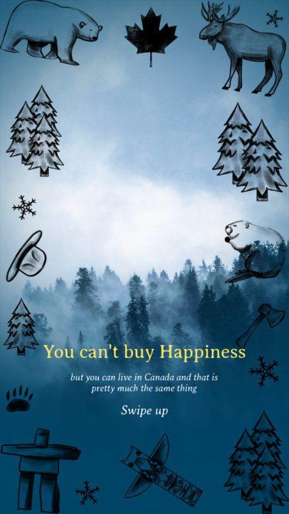 Instagram Story Maker Canada-Inspired Graphics 2051j-2234