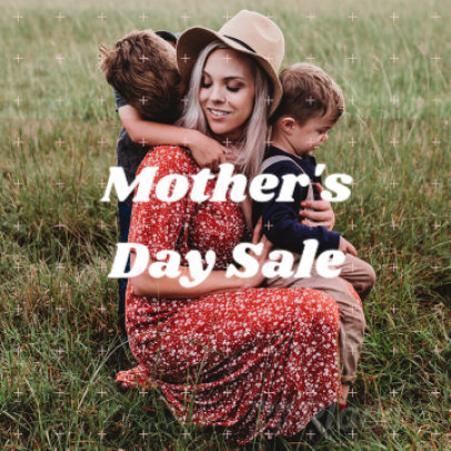Instagram Post Video Maker for a Mother's Day Sale Announcement  888d-1719