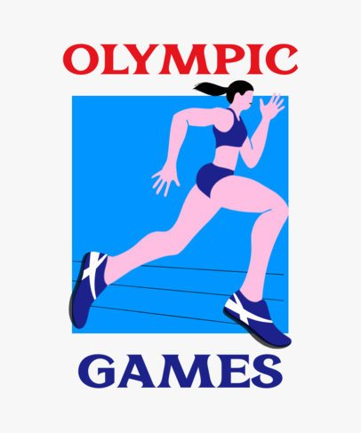 T-Shirt Design Template Featuring Olympic Athletes 2280