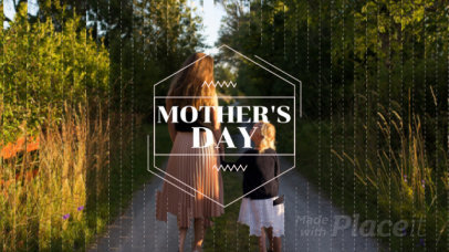 Slideshow Video Maker with Triangle Effects for Mother's Day 1320a-1717