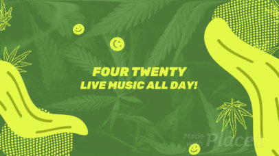 Facebook Cover Video Maker with Cannabis Graphics and Trippy Animations 459