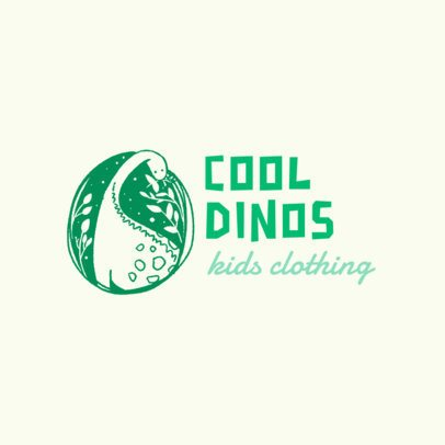 Kid's Clothing Logo Maker with a Cool Dinosaur Illustration 2950f