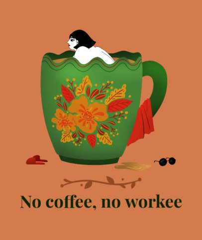Tote Bag Design Generator with the Illustration of a Woman Submerging in Coffee 2281f