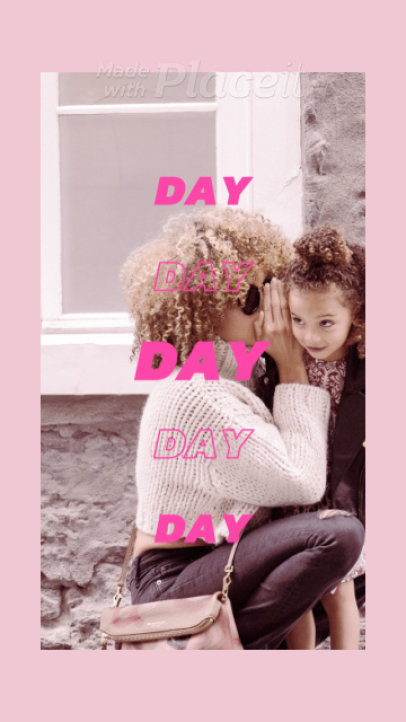 Mother's Day Instagram Story Video Maker with Dynamic Transitions 1289b 1764