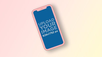 Color-Custom iPhone 11 Mockup with a Gradient Background 2943