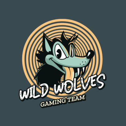 Cuphead-Inspired Gaming Logo Maker with a Wolf Cartoon 2957f