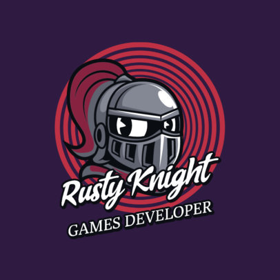 Gaming Logo Maker with a Cuphead-Inspired Knight Cartoon 2957g