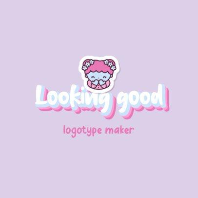 Beauty Brand Logo Maker Featuring a Cartoonish Girl 2949a