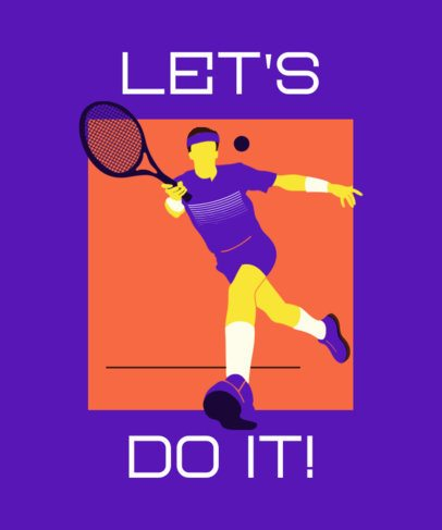 Olympics T-Shirt Design Template Featuring a Tennis Player 2280b