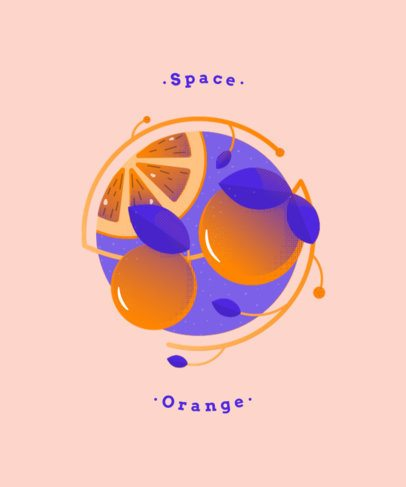 Simple T-Shirt Design Maker with an Orange Graphic and Circles 834b-el1