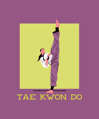 T-Shirt Design Maker Featuring a Tae Kwon Do Player 2280g