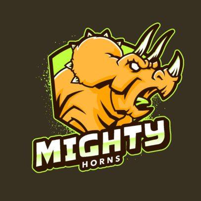 Logo Maker Featuring a Horned Dinosaur 2953b