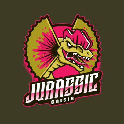 Gaming Logo Template with a Dinosaur Graphic 2953e