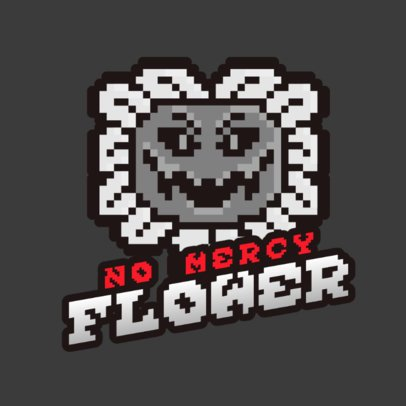 Undertale-Inspired Gaming Logo Generator Featuring an 8-Bit Flower 2951g