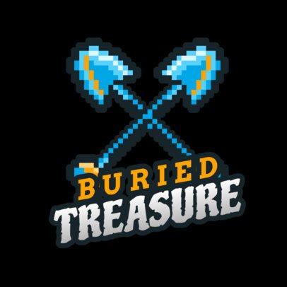 Logo Maker for Speedrun Stream Gamers with Shovel Knight-Inspired Graphics 2951i