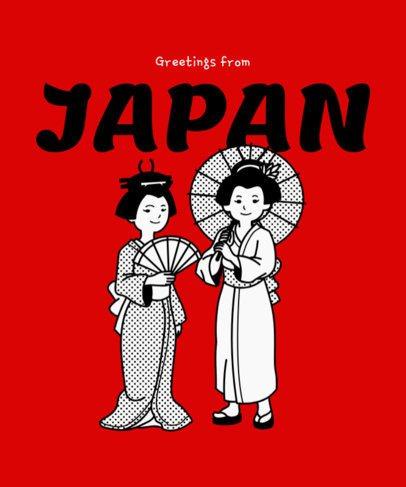 T-Shirt Design Generator Featuring Japanese Geishas 2283d