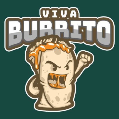 Sports Logo Template Featuring a Cartoonish Burrito Graphic a484t 2964