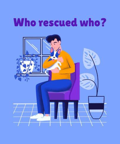 T-Shirt Design Maker Featuring an Illustration of a Man Hugging His Dog 2275c
