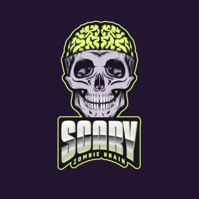 Gaming Logo Creator Featuring a Scary Zombie Skull 2786hh-2964