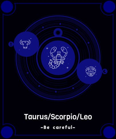 T-Shirt Design Generator Featuring Astrology Sign Graphics 2274d