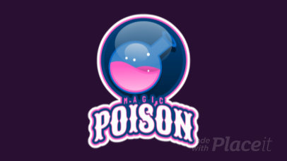 Animated Gaming Logo Maker with a Potion Flask Graphic 2613ff-2964