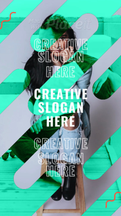 Instagram Story Video Generator Featuring Colorful Dynamic Transitions 1740