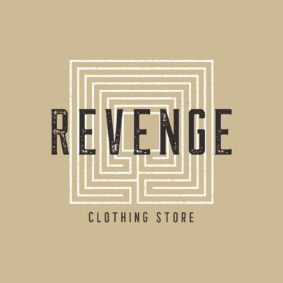 Clothing Brand Logo Maker Featuring Geometric Patterns 860-el1