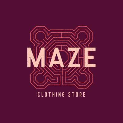 Logo Creator for a Clothing Store with a Geometric Texture 860c-el1
