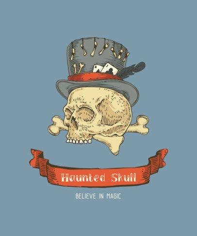 Occultism T-Shirt Design Maker Featuring a Skull 281a-el1