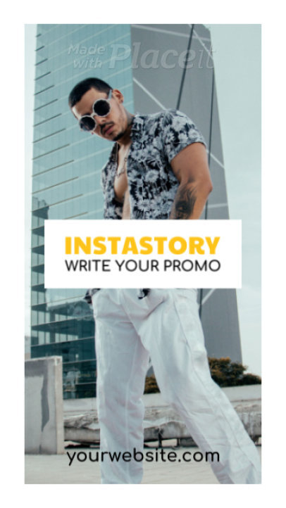Instagram Story Video Maker for a Promotion Featuring a Modern Frame 1490