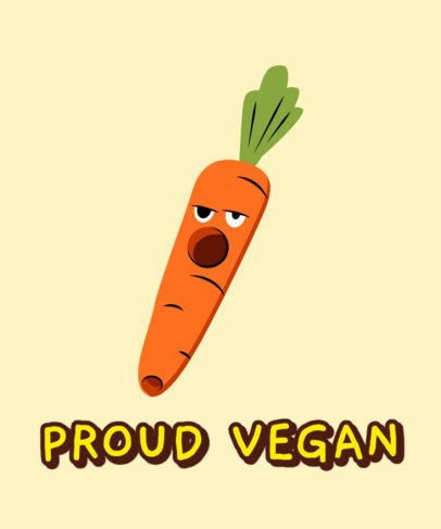 Cannabis Culture T-Shirt Design Generator Featuring a Funny Carrot Graphic 2257b