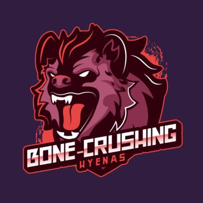 Mascot Logo Maker Featuring a Fierce Hyena 2975a