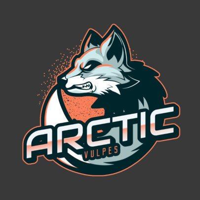 Online Logo Maker with an Aggressive Arctic Fox Illustration 2975e
