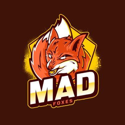 Logo Creator Featuring a Mad Fox Clipart 2975f