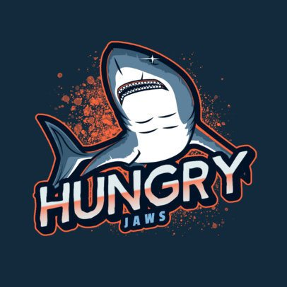 Mascot Logo Template with an Illustration of a White Shark 2975g