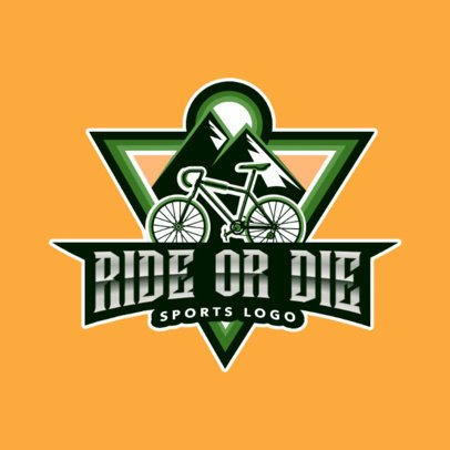Logo Maker for a Sports Team Featuring a Mountain Bike 2968a