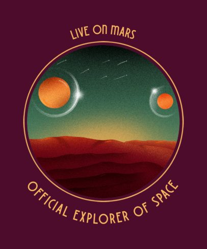 T-Shirt Design Generator for Space Exploring Enthusiasts 2255c