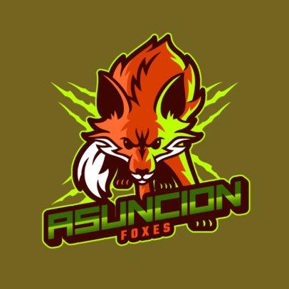 Sports Online Logo Maker Featuring a Fox 2975o