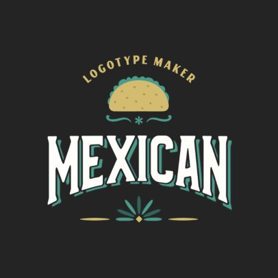 Logo Maker for Mexican Restaurants With a Taco Clipart 2976f