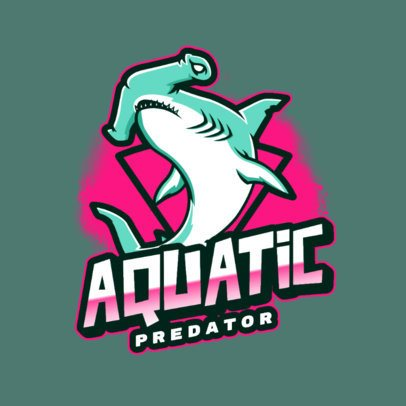 Logo Generator for an eSports Team Featuring a Hammer Shark Graphic 2975n
