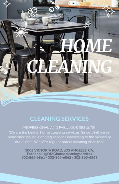 Professional Home Cleaning Services Flyer Maker 283c