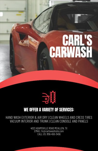 Flyer Maker for Car Wash Business with Icons 188a
