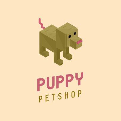 Pet Shop Logo Maker with a Tridimensional Puppy Graphic 922C-el1