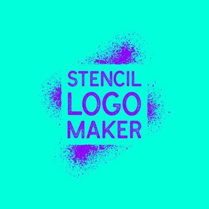 Stencil Logo Maker Featuring Graffiti Stain Graphics 2997f